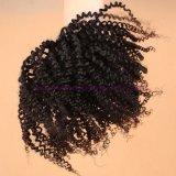 Estensioni ricce crespe non trattate dei capelli umani di migliori di qualità 8A del Virgin estensioni ricce crespe malesi dei capelli per le donne di colore