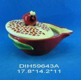 Biscotto dell'anguria/vaso di ceramica dipinti a mano della caramella