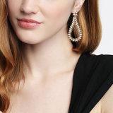 Exagerado gran moda Estrás Drop Earrings