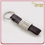 Лазер выгравировал металл тяги логоса отделенный & кожаный Keychain