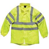 Alto rivestimento riflettente giallo di sicurezza dei vestiti di visibilità