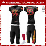 Commerce de gros Personlized Polyester Lycra ensemble uniforme de Football Américain (ELTAFJ-85)