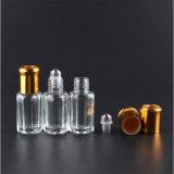 rolo de vidro de 1ml 3ml 4ml 6ml 8ml 10ml no frasco de perfume com tampão de vidro/de aço do rolo e do alumínio