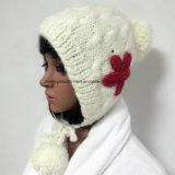 100%年アイスランドのウール、ハンドメイドの方法かぎ針編みの帽子の
