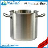 El impacto de la conducción de calor de acero inoxidable tipo sándwich de pegado de combinar la parte inferior Stock Pot con empuñadura sólida
