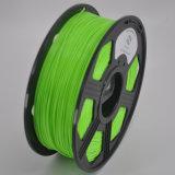 Filamento di plastica 3mm all'ingrosso di PLA di stampa 3D di verde 1.75mm