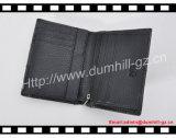 Bolsa dos homens negros do couro do couro do teste padrão do Litchi