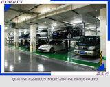 Elevatore idraulico di parcheggio dello spazio delle due automobili della colonna 2