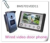 7インチのビデオドアの電話ドアベルの相互通信方式の夜間視界