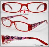 Óculos de leitura acabados de borracha com impressão no templo (WRP510498)