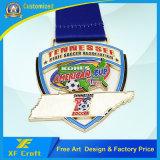 In lega di zinco su ordinazione del fornitore la medaglia del metallo della pressofusione per il ricordo di sport (XF-MD01)