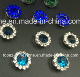 Горячий продавая Rhinestone стеклянных бусин 14mm кристаллический в шить на Strass с Rhinestone установки когтя (кристалл TP-14mm Монтаны)