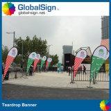 Acontecimiento o negocio de la carretera Diseño libre Bandera de la bandera de la lágrima de encargo