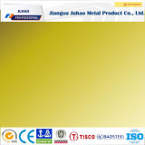 Resistente a huellas dactilares 201 304 amarillo Titanio chapa de acero inoxidable