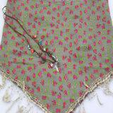 طباعة زهرة مثلث وشاح لأنّ نساء [فشيون كّسّوري] شال