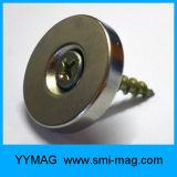 Imán permanente de la potencia del neodimio del círculo del anillo fuerte del avellanador para el tornillo