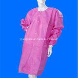 PP desechables Bata de Laboratorio Médico y Hospital uniformes Bata de laboratorio