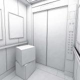 La máquina Roomless Flete/elevador de bienes con el sistema de control Vvvf