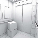 Vvvf 통제 시스템을%s 가진 기계 Roomless 운임 또는 상품 엘리베이터