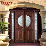 Serra de madeira porta de vidro da entrada dianteira exterior com Lites (GSP1-036)