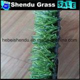 総合的な泥炭の草20mm緑Straight+Yellowのカールヤーン