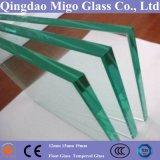 12mm Flat Effacer verre trempé avec bord poli plat