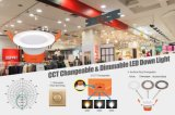 9W regulable rebajada y temperatura de color cambiante Downlight LED