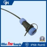 Conetor de cabo ao ar livre plástico de 2 Pin com tampa protetora contra poeira