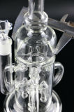 De Waterpijp van het Glas van de Ring van de Recycleermachine van Perc Tripple van raketten