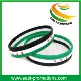 Bracelet fait sur commande bon marché de silicones avec le logo Debossed