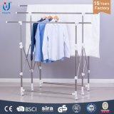 Gancho do economizador de espaço de rack de roupas pólo duplo