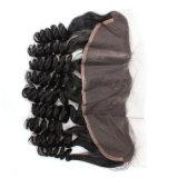 Модный курчавый парик фронта шнурка человеческих волос
