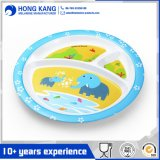 Plaque en plastique de mélamine de vaisselle de vaisselle multicolore Non-Disposable de dîner