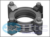 Vacuum Clamp - ISO Flanges > Wall-Clamp or Claw Clamp or Bolted Rotatable