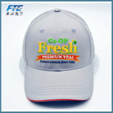 Gorra de béisbol de la aduana del encierro de la hebilla del metal de los sombreros del panel del algodón 6