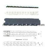 Chaîne de convoyeur flexible avec la chaîne de convoyeur en plastique d'ingénierie en nylon de Ribs&Top pour le convoyeur