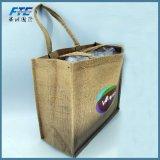 Zurückführbares neues Material kundenspezifischer preiswerter Preistote-Einkaufen-Jutefaser-Beutel