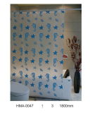 PVC Shower Curtain, Vinyl Shower Curtain (PEVA, ЕВА, PVC, полиэфир)