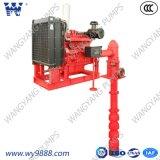 Ligne pompe de moteur diesel à incendie verticale de turbine d'arbre