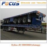 40tons Semi Aanhangwagen van de Container van de Lading stortgoed van de nuttige lading Flatbed