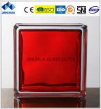Jinghua en alta calidad de color rojo ladrillo de vidrio/bloque