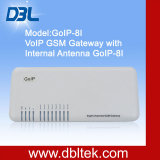 8 GSM van VoIP van havens Gateway (GoIP8)