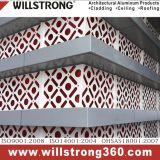 El panel perforado del panel compuesto de aluminio para la fachada