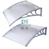 pabellón del toldo de la PC del aluminio 1200 * 1200 con la hoja del sólido del policarbonato