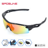 o esporte ao ar livre polarizou 100% anti óculos de sol UV Eyewear - preto