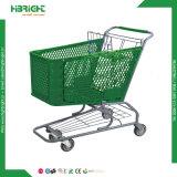 Amerikanischer Art-Einzelverkaufs-PlastikEinkaufswagen für Verkauf P-4