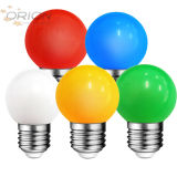 Coloré Blanc Rouge Bleu Vert Jaune Orange Rose G45 de 0,5W 1W E27 Lampe LED couleur