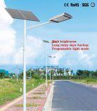 Éclairage par LED de la rue solaire avec panneau solaire