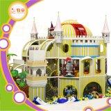Estilo da floresta e o Castelo playground coberto Slide de fibra de vidro e plástico do Projeto