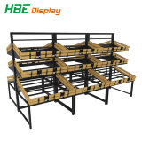 Frutas y Verduras de madera de supermercado estanterias soporte